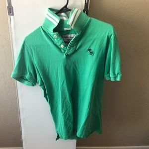 Abercrombie & Fitch Men's Large Green Polo